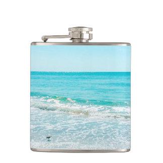 Tropical Florida Beach Sand Ocean Waves Sandpiper Flask