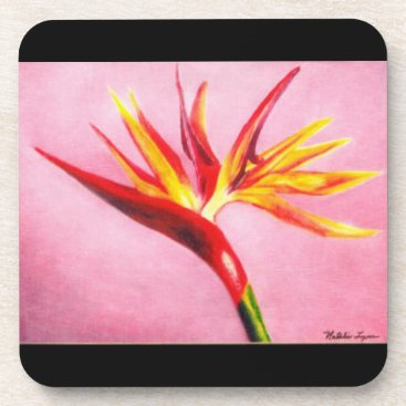 Tropical Flower Beverage Coaster