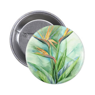 Tropical Flower Bird Of Paradise Painting - Multi Pins