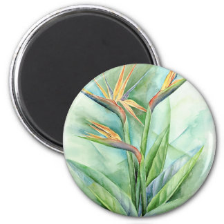 Tropical Flower Bird Of Paradise Painting - Multi Magnet