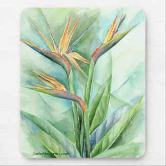 Tropical Flower Bird Of Paradise Painting - Multi Mouse Pad