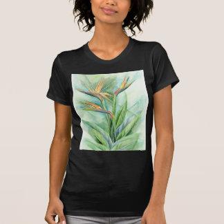 Tropical Flower Bird Of Paradise Painting - Multi T-Shirt