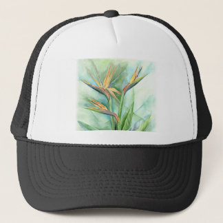 Tropical Flower Bird Of Paradise Painting - Multi Trucker Hat