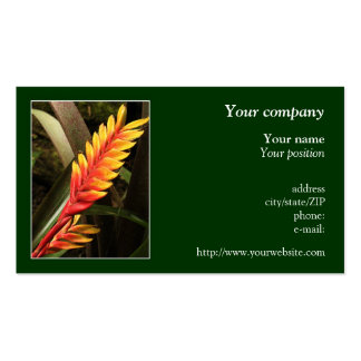 """Tropical flower"" business card"