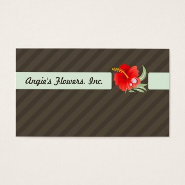 Professional Business Tropical Flower Business Card