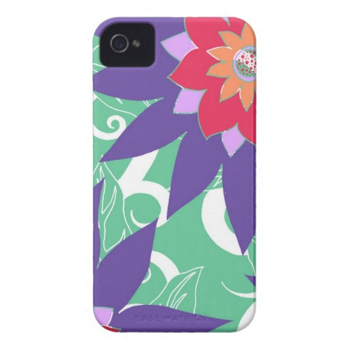 Tropical Flower Case-Mate iPhone 4 Cases