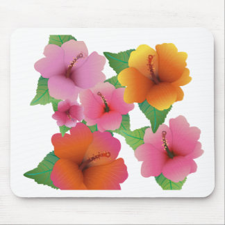 Tropical flower exotic hibiscus mouse pad