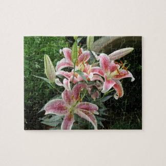 Tropical Flower Fiesta -27- Lirios Jigsaw Puzzle