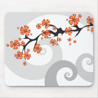 Tropical Flower Fusion Swirl Mousepad