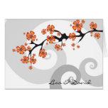 Tropical Flower Fusion Swirl Wedding Invitation Cards
