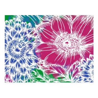 Tropical Flower Garden Postcard