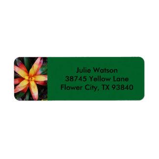 Tropical Flower Label Return Address Label