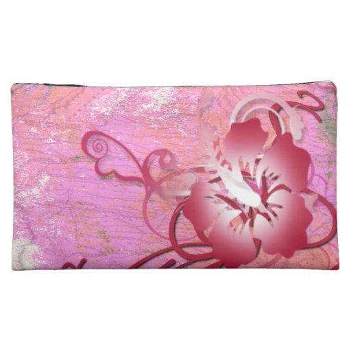 Tropical Flower Makeup Bag