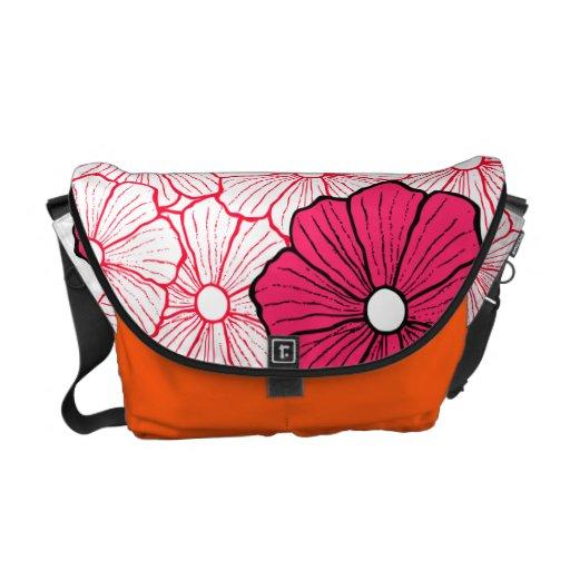 Tropical Flower Messenger Bag