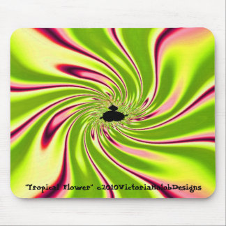 """""""Tropical Flower"""" Mouse Pad"""