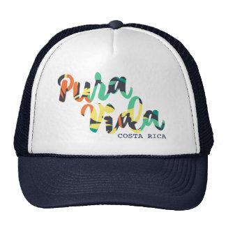 "Tropical Flower ""Pura Vida"" Costa Rica Souvenir Trucker Hat"