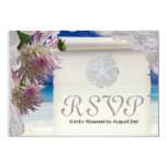 Tropical Flower Response Card Personalized Announcement