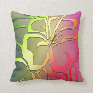 Tropical Flower Throw Pillows
