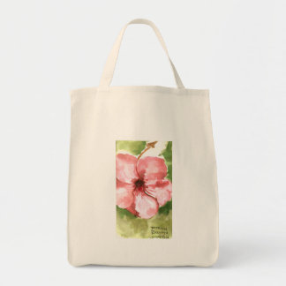 Tropical flower water, color tote bag