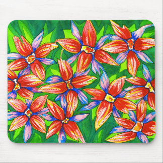 Tropical Flower Watercolour Mouse Pad