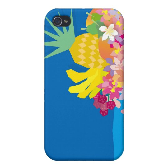 Tropical Flower Waves Covers For iPhone 4