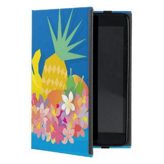 Tropical Flower Waves iPad Mini Cover