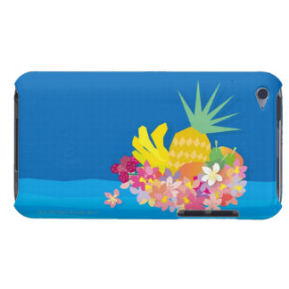 Tropical Flower Waves iPod Touch Case-Mate Case