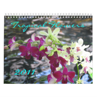 Tropical Flowers, 2011 Calendars