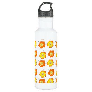 Tropical Flowers 24oz Water Bottle