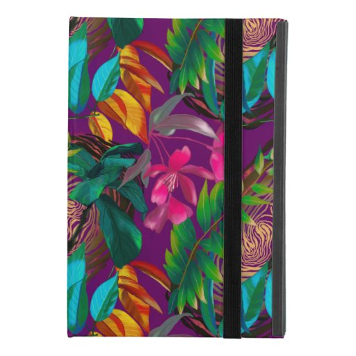 Tropical flowers and animal patterns iPad mini 4 case