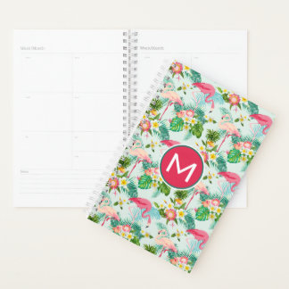 Tropical Flowers And Birds | Add Your Initial Planner