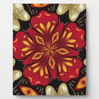 Tropical Flowers And Butterflies Mandala Plaque