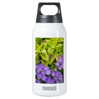 Tropical flowers and leaves 10 oz insulated SIGG thermos water bottle