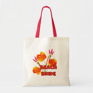 Tropical Flowers Beach Bride Tote Bag