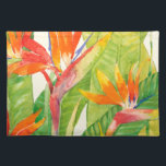 "Tropical Flowers | Bird of Paradise Cloth Placemat<br><div class=""desc"">Watercolor Tropical Flowers 2 Artist: Tim OToole</div>"