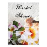 Tropical Flowers Bridal Shower Invitations