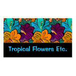 Tropical Flowers Business Card (multi-colored)