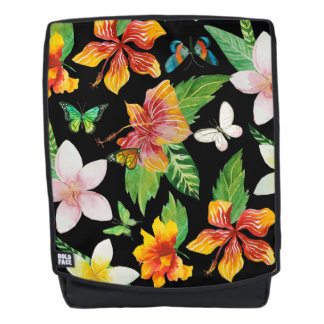 Tropical Flowers & Butterflies pattern Backpack