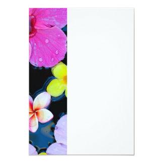 Tropical flowers card