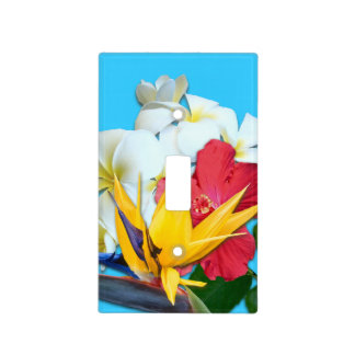 Tropical Flowers Decorative Switchplate Cover Light Switch Covers