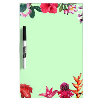 Tropical Flowers Dry-Erase Whiteboards