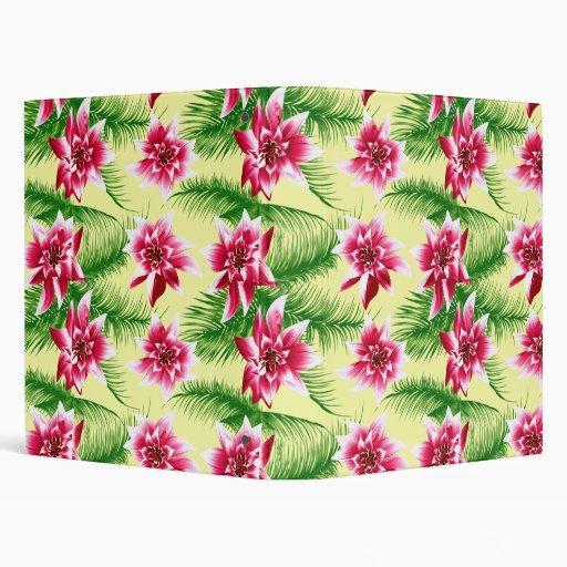 Tropical Flowers & Ferns Binders