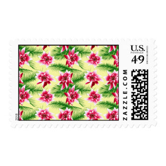 Tropical Flowers & Ferns Stamps