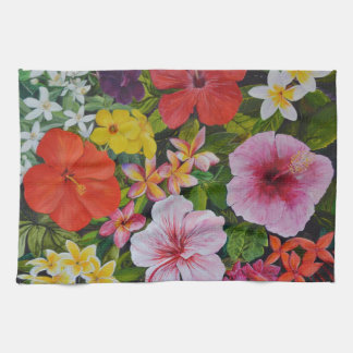 Tropical Flowers Hand Towels
