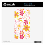 Tropical Flowers iPhone Skin Skin For iPhone 4