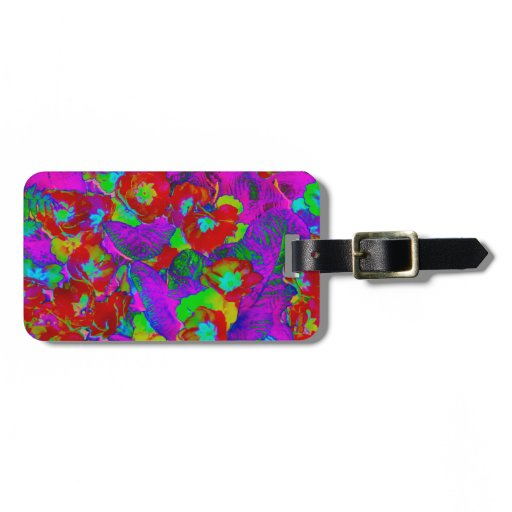 Tropical Flowers Luggage Tag