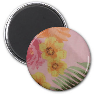 Tropical Flowers Magnet
