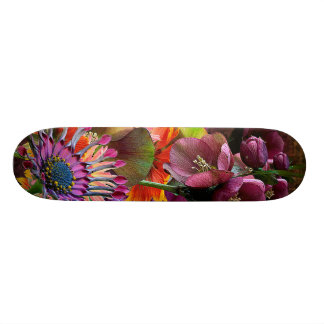 Tropical Flowers Mother's Day Bouquet Skateboard