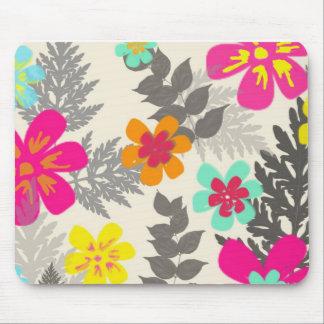 Tropical Flowers Mouspad Mouse Pad
