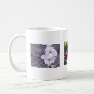 Tropical flowers classic white coffee mug